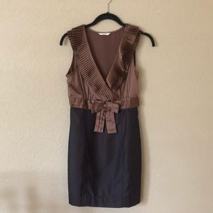 Esley bronze and brown sleeveless dress